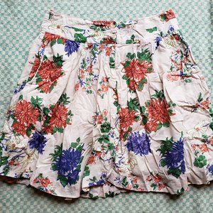 Old Navy Lined Floral Skirt Size 4
